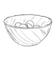 sketch of dish with food vector image