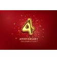 4th anniversary celebration number in form