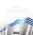 Abstract silver technology background vector image vector image