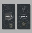 bakery background flat vector image vector image