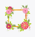 beautiful flowers frame isolated on white vector image
