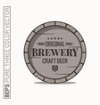 beer barrel logo brewery craft label vector image