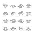 black pictogram of eyesight or looking eye line vector image vector image