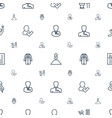 businessman icons pattern seamless white vector image vector image