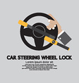 Car Steering Wheel Lock vector image vector image