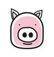 cartoon animal head icon pig face avatar vector image vector image