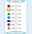 change color colorful shapes learning basic vector image