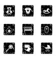 Child icons set grunge style vector image