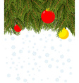 Christmas background Branch Christmas tree and vector image vector image