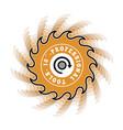 circular saw symbol vector image