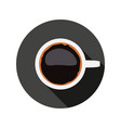 coffee cup symbol vector image vector image