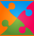 colorful background puzzle jigsaw banner puzzle vector image