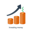 compound interest time is money pension fund vector image