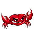 crab mascot design vector image vector image