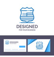 creative business card and logo template shield vector image vector image