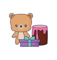 cute bear animal baby vector image