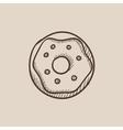Doughnut sketch icon vector image vector image