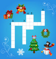 education game for children about christmas vector image
