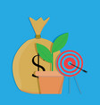 financial target vector image vector image