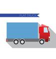 flat design city transportation small truck vector image vector image