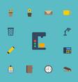 flat icons espresso machine watch identification vector image vector image