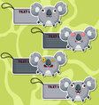 Four cute cartoon Koalas stickers vector image