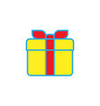 gift box simple solid icon vector image