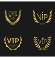 Golden VIP wreaths vector image vector image