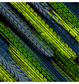 green color tire track wallpaper vector image vector image