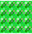 green geometrical seamless diagonal square vector image vector image