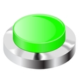 Green push button with chrome frame vector image vector image