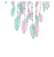 Hanging pink and turquoise or blue stylized doodle vector image vector image