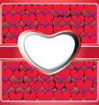 Heart lace frame vector image vector image