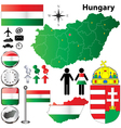 Hungary map vector image vector image