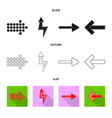 isolated object of element and arrow symbol set vector image vector image
