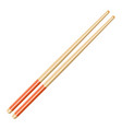 kitchen asian chopsticks icon vector image