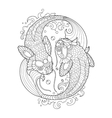 Koi carp coloring book for adults vector image vector image