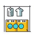 Laundry washhouse flat line concept