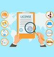 license law firm certified documents contract vector image vector image