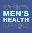 Mens health word concepts banner medical