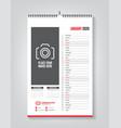 minimalist calendar template for january 2020 vector image vector image
