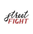 modern brush inscription street fight vector image