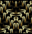 modern gold 3d seamless pattern abstract vector image vector image