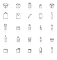 Packaging line icons with reflect on white vector image