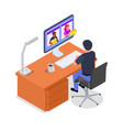 remote management concept vector image vector image