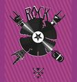 Rock Poster vector image