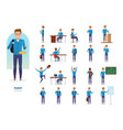 set of character student education and training vector image