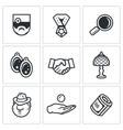 Set of Pawnshop Icons Appraiser Jewel