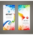 Set of polygonal and triangular geometric banners vector image