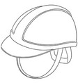 set of safety helmet vector image